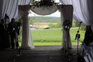 Arch for the ceremony